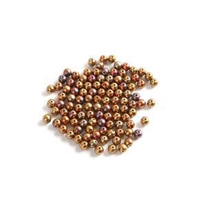 Czech RounDuo Beads, 5mm - Ancient Gold (100pcs)