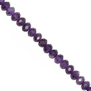 50cts Amethyst Faceted Rondelle Approx 5.5x4 to 6x4mm, 20cm Strand
