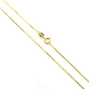 18ct Gold Vermeil Plated Sterling Silver Box Chain 45cm/18""