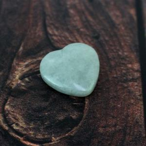 15cts Burmese Jadeite Puffy Heart Pendant Approx 20mm (top horizontal drill)