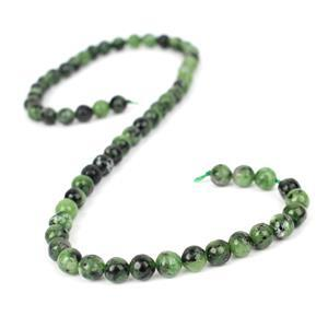 120cts Ruby Zoisite Plain Rounds Approx 6mm, 38cm Strand