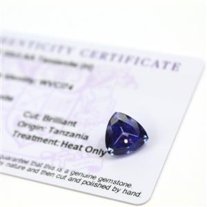 7.5cts  Tanzanite 11.75x11.75mm Triangle  (H)
