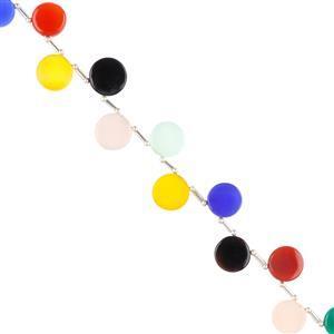 Multi-Colour Dyed Onyx Gemstone Strands
