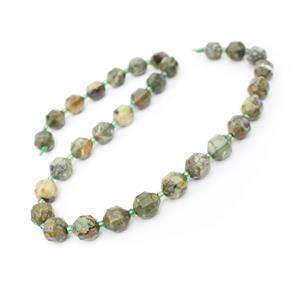 160cts Rhyolite Fancy Faceted Beads Approx 10x9mm, 38cm