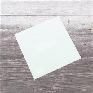 "Fuseworks 90 COE White Sheet Glass, 6x6"" Square (1pc)"