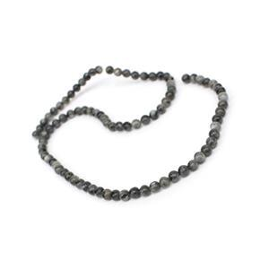 50cts Larvikite Plain Rounds Approx 4mm, 38cm Strand