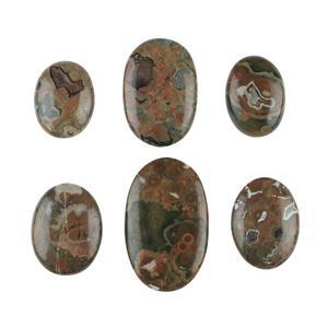 Rainforest Jasper Cabochons.