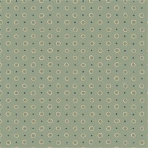 Hannah Basic Spotted Green Fabric 0.5m
