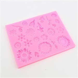 Silicone mould, flowers, Approx 136x106mm x 9mm thickness (1pc/pack)