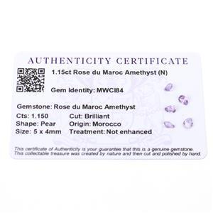 Amethyst Gemstone Pieces  1.48cts