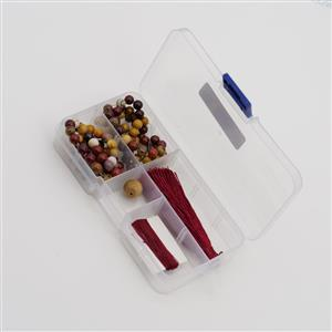 108 Bead Mala Mookite Include 1pc 12mm Mookite Plain Round & 108pcs 6mm Mookite Plain Rounds