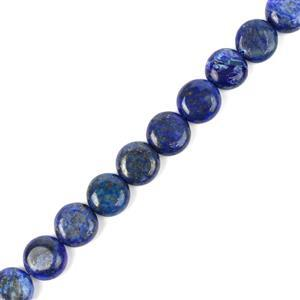 160cts Dyed Lapis Lazuli Puffy Coins Approx 10mm, 38cm Strand