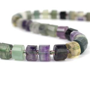 310cts Fluorite Faceted Cylinders Approx 10x6.5mm, 38cm