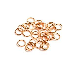 925 Rose Gold Plated Sterling Silver Open Jump Rings ID Approx 7mm ID (Approx 30pcs)