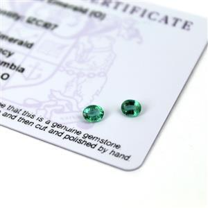0.35cts Zambian Emerald 5x4mm Oval Pack of 2 (O)