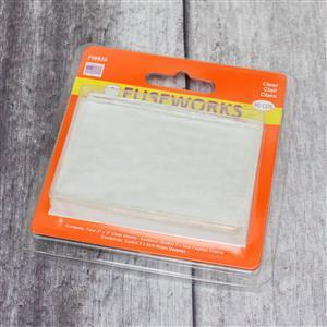 """Fuseworks Clear Fusible Glass Sheet Pack 4 x 2x3"""""""