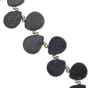 Black Matrix Opal Gemstone Strand