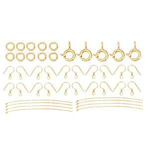 Gold Plated 925 Sterling Silver Beginners Finding Pack (50 pcs)