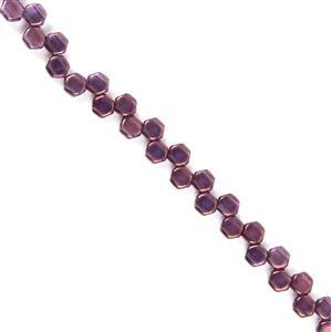 Czech Honeycomb Beads - Tanzanite Vega, Approx. 6mm (30pcs)