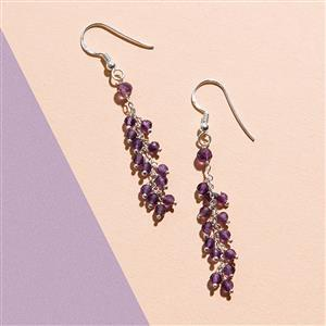 925 Sterling Silver Waterfall Earrings Kit With Amethyst Rondelles (1pair)