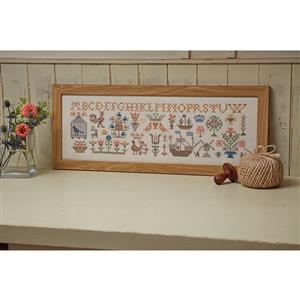 Dutch Sampler on Linen - Sewing Street Exclusive