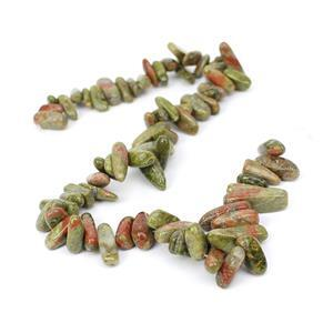500cts Unakite Long Nuggets Approx 13x6-23x8mm, 38cm strand