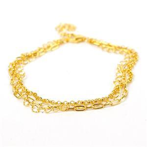 Bracelet  in Gold Flash Sterling Silver