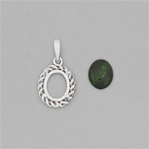 925 Sterling Silver Pendant Mount Fits 10x8mm Oval