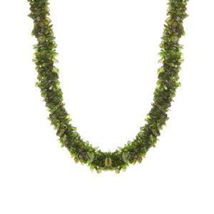 Chrome Diopside Necklace in Sterling Silver 379.10cts