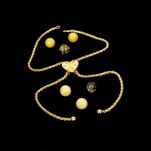 Amber & Gold Plated Sterling Silver Heart Slider Bracelet Mini Make