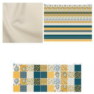 Inspiring Improv Copen Summer Duo Cushion Bundle: Fabric (1m) & Fabric Panels (2 pcs)