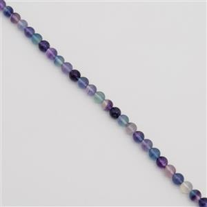 180cts Fluorite Plain Rounds Approx 8mm, 38cm Strand