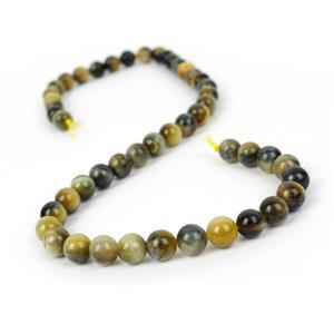 160cts Bleached Golden & Blue Tiger Eye Plain Rounds Approx 8mm, 38cm Strand
