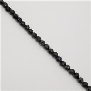 180cts Larvikite Faceted Rounds Approx 8mm, 38cm Strand