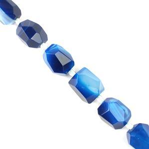 480cts Blue Stripe Agate Faceted Nuggets Approx 13x18mm,  38cm