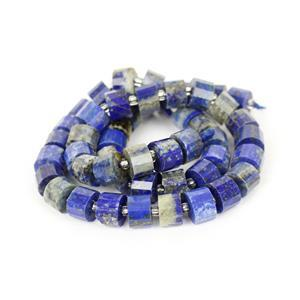 230cts Lapis Lazuli Faceted Cushions Approx 9x6mm, 38cm