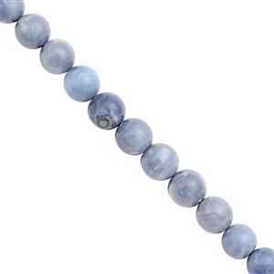 78cts Blue Opal Graduated Smooth Round Approx 7 to 8.5mm, 20cm Strand
