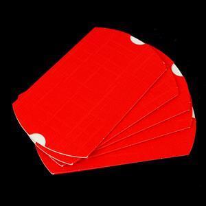 Red Silk Bustina 70x70x25mm 5pk