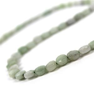 70cts Jadeite Faceted Coins Approx 6mm, 38cm Strand