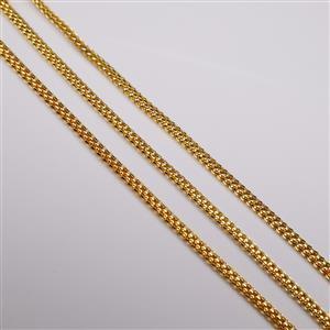 Gold Plated Base Metal Snake Chain Bracelet, 16cm (3pk)