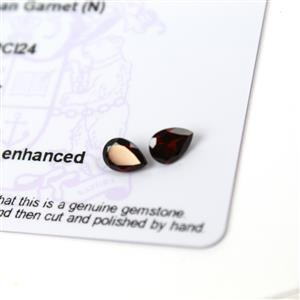 1.6cts Rajasthan Garnet 7x5mm Pear Pack of 2 (N)
