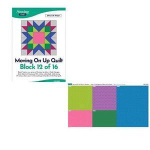 John Cole-Morgan's BOW Block 12: Rainbow 'Moving on Up' Quilt Kit: Instructions & Panel