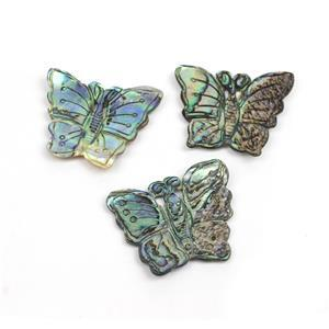 Abalone Butterfly Approx 30x38mm, Pack of 3