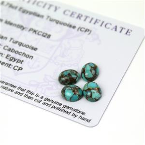5.75cts Egyptian Turquoise 9x7mm Oval Pack of 4 (CP)