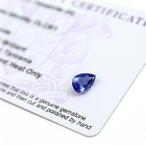 1.2cts  Tanzanite 9x6mm Pear  (H)
