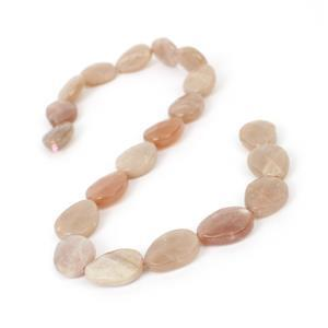 260cts Sunstone Faceted Pears Approx 20x15mm, 38cm Strand