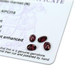 2.15cts Tocantin Garnet 6x4mm Oval Pack of 4 (N)