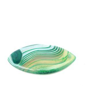 50cts Green Stripe Agate Marquise Pendant  Approx 30x50mm ,1pk