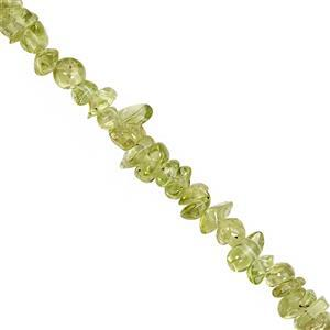 310cts Peridot Bead Nugget Approx 2.5x1.5 to 8x3mm, 100inch Strand