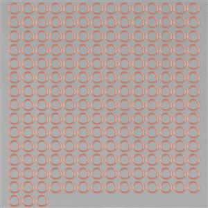 Bare Copper Open Jump Rings ID Approx 7mm. (XIAZ78)